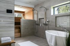 Elegant interior design with lots of light Modern Bathroom Design, Bathroom Interior Design, Bath Design, Dream Home Design, House Design, Cute Room Decor, Spa Rooms, Interior Styling, Interior Architecture