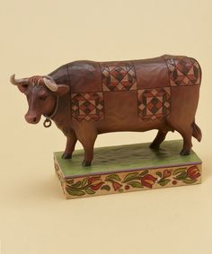 Look at this Jim Shore Devon Cow Figurine on #zulily today!