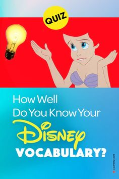 Disney Vocabulary Quiz - You can't call yourself a Disney fan if you don't know the meaning of these Disney words! Can you speak the Disney lingo? Test you Disney vocab now! #DisneyVocabulary #disneywords #disneylove #disneymovies #disneytrivia