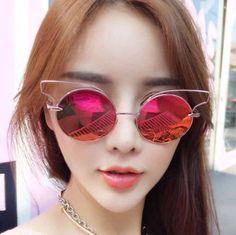 8b2abe7332d6 Small Cat Eye Sunglasses Women Retro Vintage Eyewear