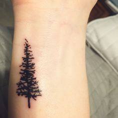 Forever strong as a pine tree, always and evergreen aes ink Small Rib Tattoos, Small Tattoo Placement, Small Tattoos With Meaning, Evergreen Tree Tattoo, Pop Punk Bands, Mom Tattoos, Tatoos, Unique Words, Pine Tree