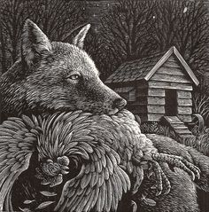"""""""Fox"""" by Andrew Davidson (wood engraving)"""