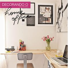 Home Office Decor. Home office and home study styling options, such as tips on limited area, desk suggestions, layouts, and units. Create a workplace in the house that you won't mind getting work done in. 30854795 5 Home Office Decorating Ideas Bureau Design, Diy Bureau, Workspace Design, Study Design, Small Apartments, Small Spaces, Desk In Small Space, Small Writing Desk, Space Saving Desk