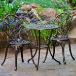 Angelina Aged Bronze Bistro Set..perfect for a front porch??