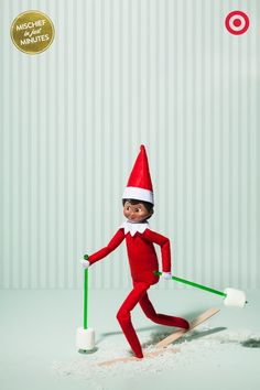 Elf on the Shelf Goes Skiing