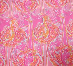 "Dobby Cotton Fabric Lilly Pulitzer Dress Lilac Verbena Fruity Monkey 32.5/"" X 57/"""
