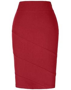 e69f03abe Women's Wear To Work Skirts - Kate Kasin Women's Stretchy Cotton Pencil  Skirt Slim Fit Business Skirt at Women's Clothing store: