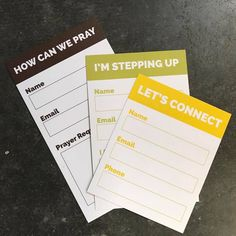 Almost every church has a church connection card. Enjoy this list of 4 awesome church connection cards and feel free to use them for your own inspiration.