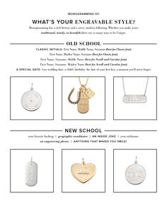 What's Your Engravable Style? Old School or New School? | Stella & Dot