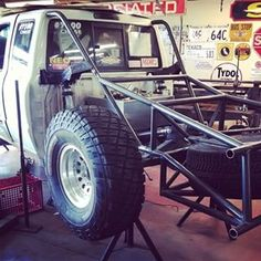 SMT Ford Ranger is moving right along. Ready to mount bedsides.  #Ford #ranger #rollcage #4link #prerunner_nation #projects #prerunnersonly #prerunnerarmy #prerunner_army #truckdaily #madtravel #metalfabrication #backhalf.