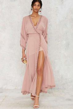 The Jetset Diaries Las Perlas Kimono Dress - Clothes | Midi + Maxi | All Party