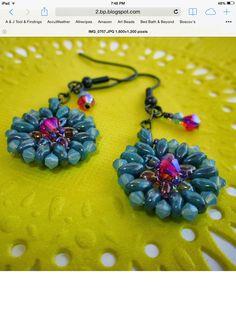 Twin bead earrings