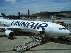 Finnair Airbus A330 loading cargo