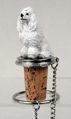 Wine Stoppers - White Poodle Wine Bottle Stopper  DTB01A by Conversation Concepts >>> Find out more about the great product at the image link.
