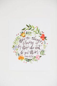 Altijd bloemen voor degenen die hen inspiratie door ShannonKirsten