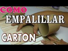 DIY COMO EMPALILLAR CARTÓN PARA ENDURECER Y TRENZAR - HOW TO STRENGTHEN ...