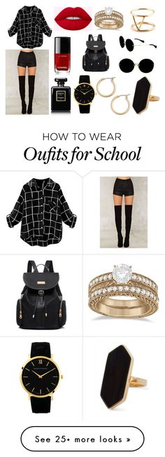 """Sin título #1877"" by sweetblack-21 on Polyvore featuring OneTeaspoon, Chanel, Nordstrom, Jaeger, Miu Miu, Allurez and SOKO"