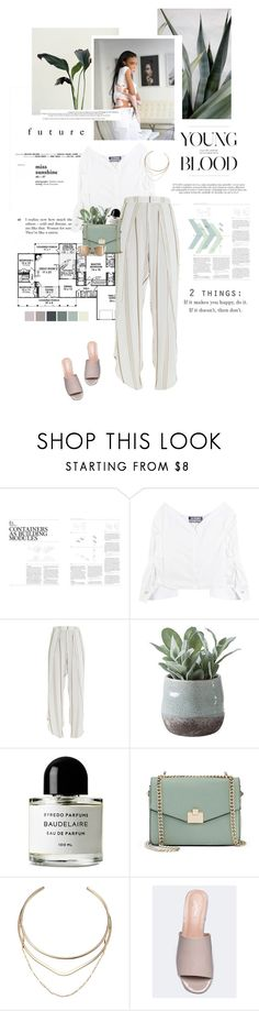 """""""Love yourself."""" by sarahstardom ❤ liked on Polyvore featuring GESTALTEN, Jacquemus, Faithfull, Torre & Tagus, Byredo, Jennifer Lopez and GUESS"""