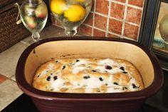 Buttermilk Blueberry Breakfast Cake- our favorite breakfast in my deep covered baker!!!