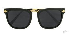 Óculos De Sol Quadrado Inspired Com Flexa Em Acetato E Metal    Ui! Gafas / Walker - UI304