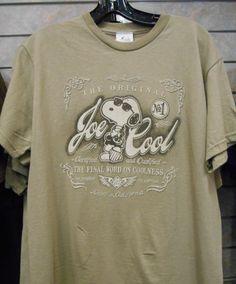 Knott's T-shirt featuring Snoopy as the original Joe Cool
