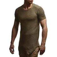 LEIF NELSON Herren oversize T-Shirt Sweatshirt Hoodie Hoody LN6325