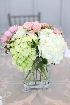 Les moineaux de la mariée: Des hortensias de mariage