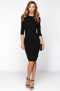 The Fifth Label No Time To Waste Black Midi Dress