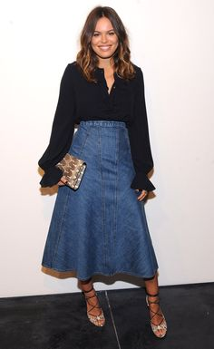 Wish I still had my long jean skirts from about 10-15 yrs ago ...
