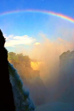 #Victoria Falls viewed from #Zimbabwe side. It's beautiful, one of the world wonders. It's like paradise.