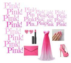 """PINK"" by eldina-salihovic ❤ liked on Polyvore featuring beauty, Rebecca Minkoff, Le Métier de Beauté, Elsa Peretti, beautiful, PinkDress and Elegant"