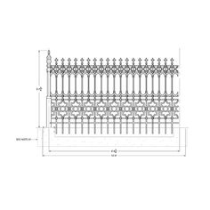 Stewart Cast Iron Fencing - Limited Stock on Full Height Railing and Half Height Railing. Victorian Fencing And Gates, Cast Iron, It Cast, Gate Post, Brick Fence, Gardening, Usa, Collection, House Beautiful