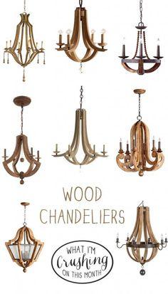 Favorite wood chandeliers