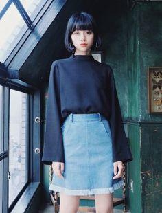 Jojo Fashion, Girl Fashion, Womens Fashion, Asian Bangs, Asian Street Style, Short Hairstyles For Women, Japanese Fashion, Cute Girls, Fashion Models