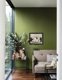 Farrow & Ball add nine new paint colours to their range Olive Green Bedrooms, Olive Green Walls, Bedroom Green, Olive Green Decor, Living Room Green, Green Rooms, Living Room Decor, Living Room Paint, Room Colors