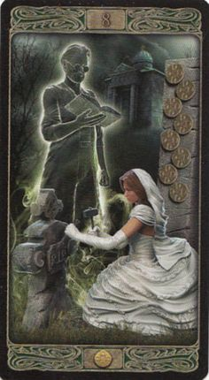 Ghost Tarot by Davide Corsi is published by Lo Scarabeo, which means there is only a little white book with this deck. Divination Cards, Oracle Tarot, Dark Pictures, Tarot Card Decks, Tarot Spreads, Tarot Readers, Gothic Art, Fantasy Creatures, David Bowie