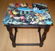 Batman decoupage side table