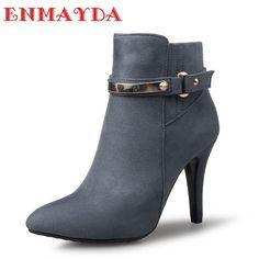 SHOWHOW Damen Wasserdicht Schuh Kurzschaft Stiefel mit Absatz Schwarz 43 EU ODrkAhyBfA
