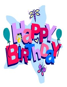 free birthday balloon art birthday clip art images birthday stock rh pinterest com free birthday clipart for ladies