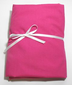 Fitted Sheet for Baby Crib or Toddler Bed Solid Fuschia by KidsSheets on Etsy