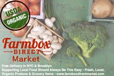 Introducing Farmbox Direct Market! All of your LOCAL, ORGANIC grocery needs. From milk to eggs to bread to cheese to meat. Shop today at www.farmboxdirectmarket.com