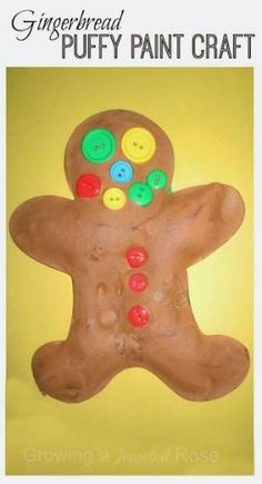 Gingerbread craft for kids...similar to the shaving cream snowman that I have done before, but scented! by etta