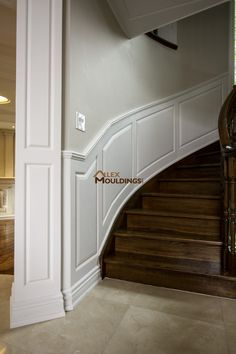 Wainscoting Wall Panels Beadboard Ideas In Rooms, Wood Chair Rail Installation Wainscoting Wall Paneling, Wainscoting Styles, Wall Panelling, Accent Wall Panels, 3d Wall Panels, Waffle Ceiling, Traditional Staircase, Curved Walls, Curved Staircase