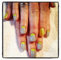 Nails with reverse tips