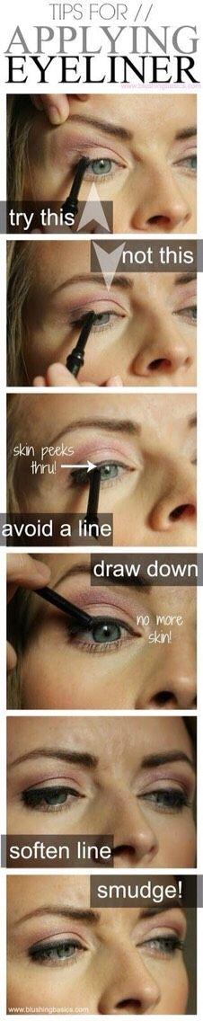 Tips For Applying Eyeliner! #tipit #Beauty #Trusper #Tip