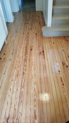Pitch Pine finished with three coats of a top quality floor lacquer. Hardwood Floors, Flooring, Pitch, Ireland, Restoration, It Is Finished, Coats, Projects, Top