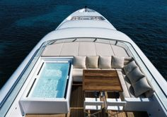 Have a little party on this yacht with a top-deck hot tub
