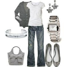grey, silver, denim