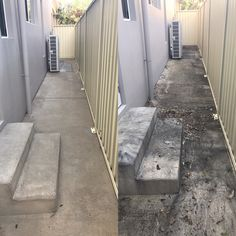 Concrete cleaning by www.waterworxpressurecleaning.com.au Brisbane, Gold Coast, Ipswich & Logan.