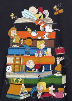 The Peanuts gang know how awesome books are! Charlie Brown Christmas, Charlie Brown And Snoopy, Peanuts Cartoon, Peanuts Snoopy, Snoopy Love, Snoopy And Woodstock, Snoopy Comics, Snoopy Wallpaper, Joe Cool